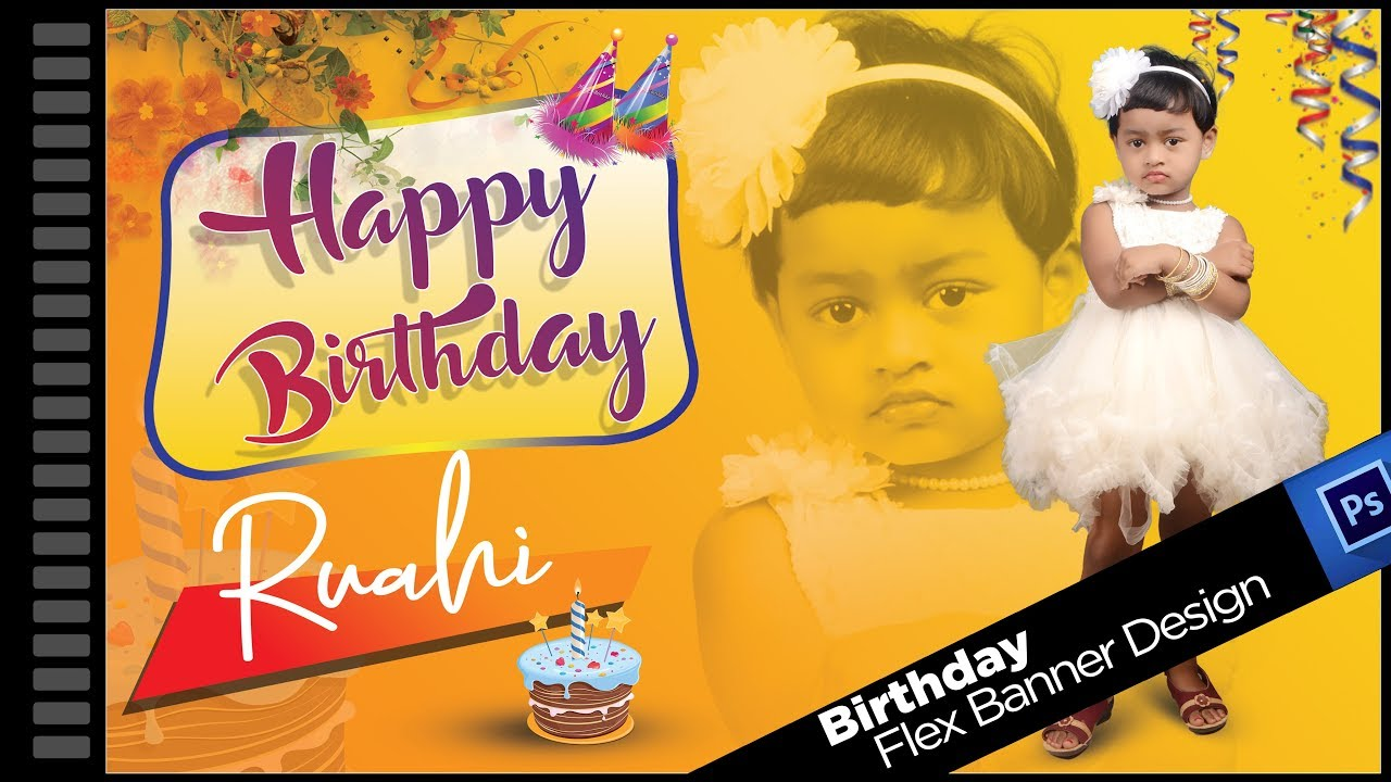 Birthday Banner Design In Photoshop Size 3ft X 5ft Youtube Collection of birthday banner transparent (48) alt=happy birthday banner with balloons transparent png clip art image birthday flex banner background design birthday banner design in photoshop size 3ft x 5ft