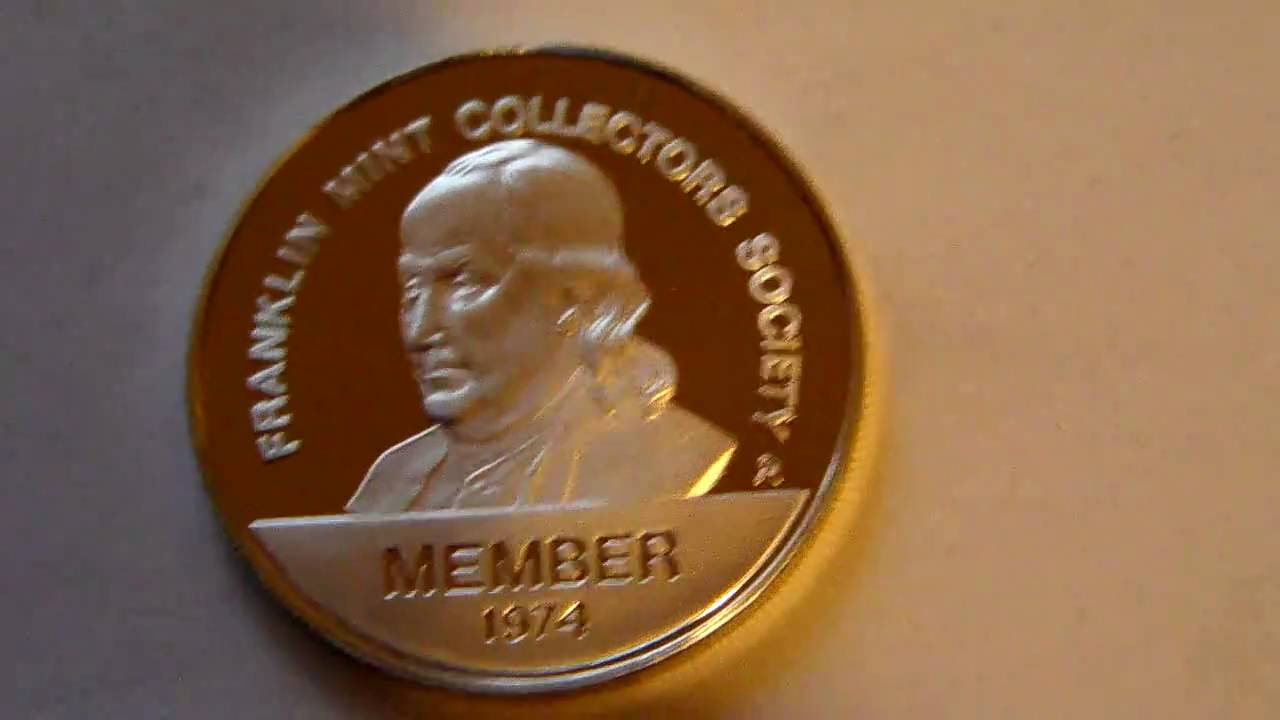 Franklin Mint Collectors Society Member Coin 1974 Youtube