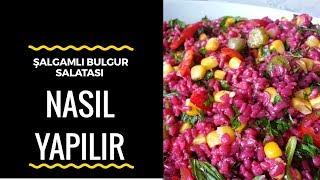 Şalgamlı Bulgur Salatası | Şalgam Sulu Bulgur Salatası