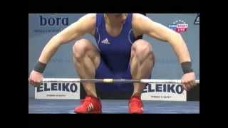 Women 63 kg snatch European Weightlifting Championships Tirana 2013