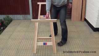 Folding Sawhorse  - Timber Trestles - Woodworkers Benches