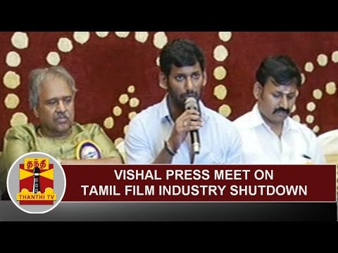 Producer Council President Vishal's Press meet on the shutdown of Film Industry | Thanthi TV