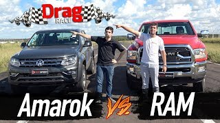 Amarok V6 Vs. Ram 2500 (Dragrace) | Top Speed