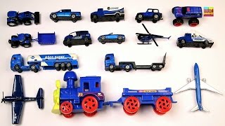 Learn Color Blue | Street Vehicles | Vehicles for Children