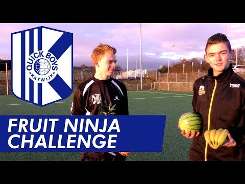 FRUIT NINJA CHALLENGE || Quick Boys vs. Rijnsburgse Boys