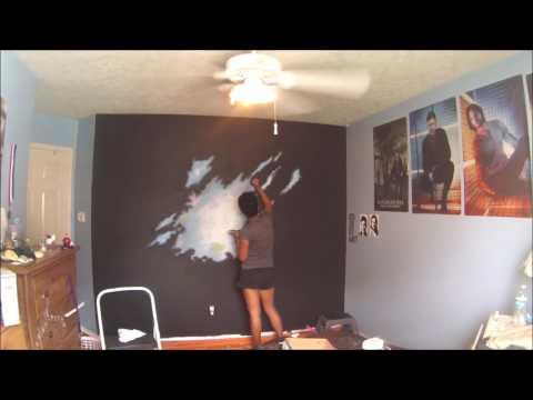 Bedroom Galaxy Mural