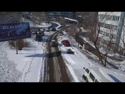 Дороги Владивостока после снегопада