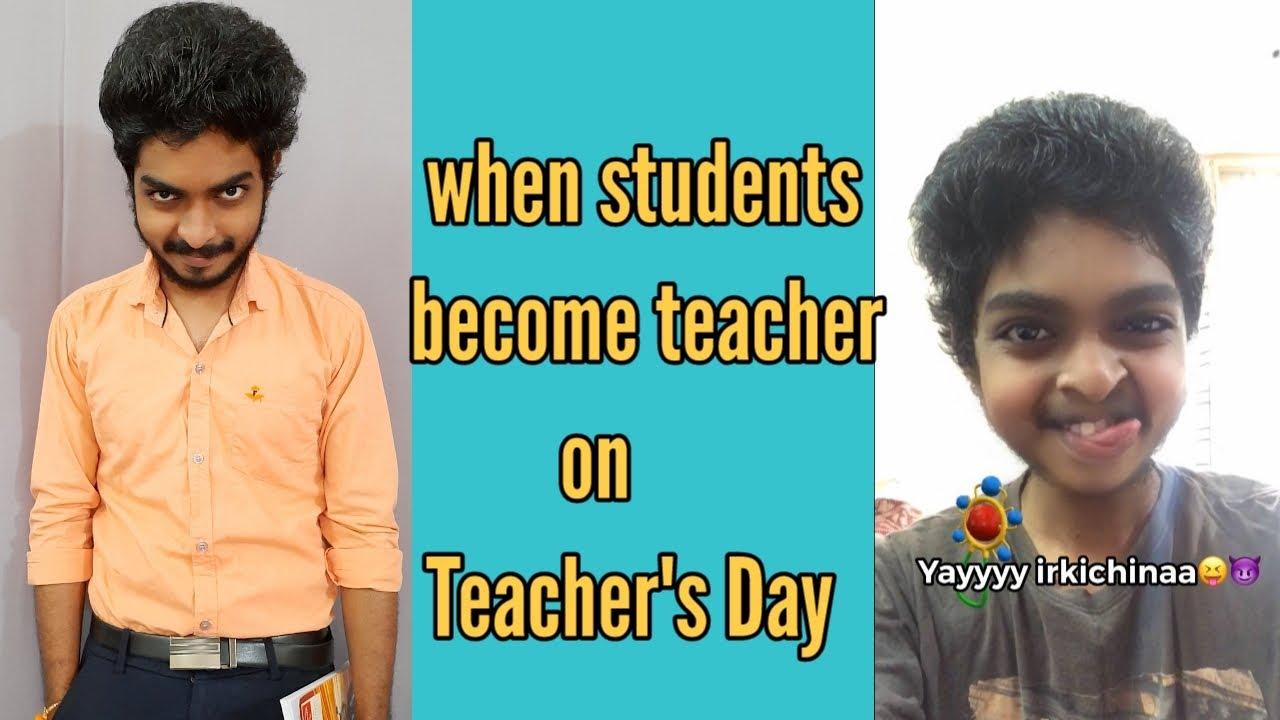when students become teacher on Teacher's day