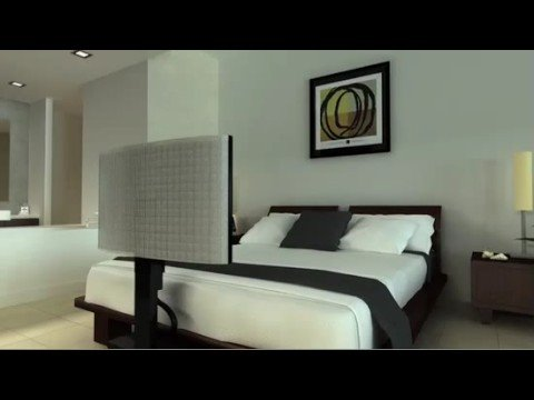 under bed tv lift call youtube. Black Bedroom Furniture Sets. Home Design Ideas