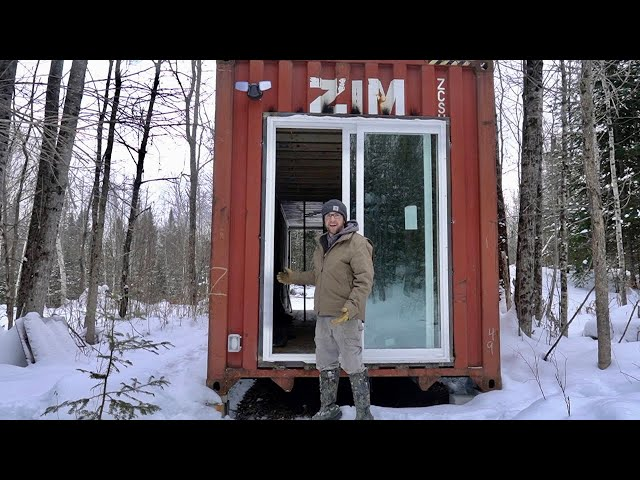Wiring Exterior POWER on OUR OFF-GRID Shipping Container Cabin in the WOODS