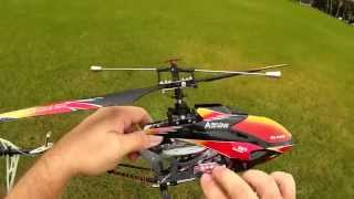 V913 Helicopter Fun Flying at Park Very Windy Flight