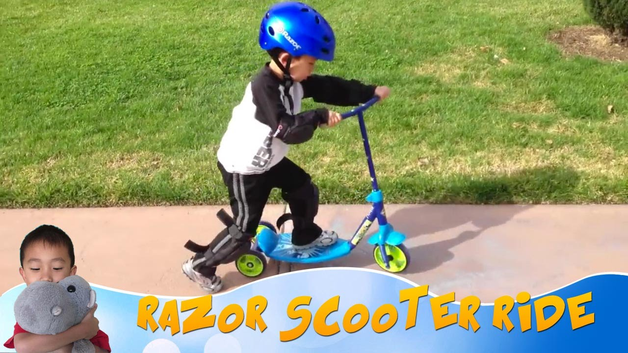 Toddler Razor Scooter Part 1 Of 2 Youtube