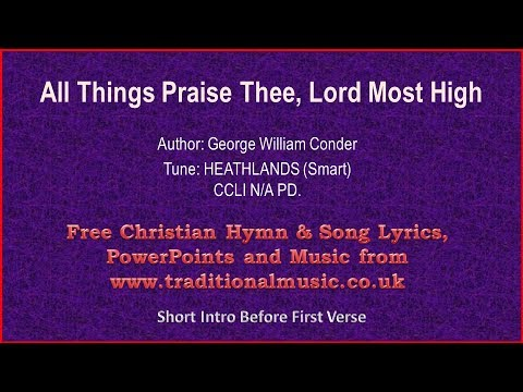 All Things Praise Thee, Lord Most High(MP024) - Christian Lyrics & Music