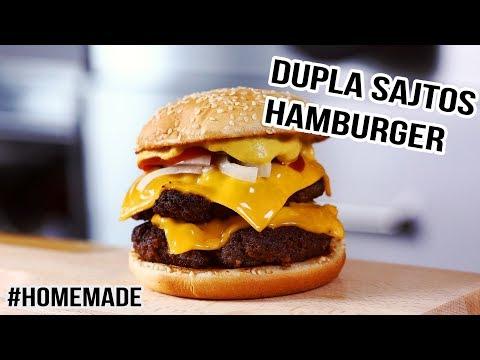 Homemade dupla sajtos McRoyal hamburger