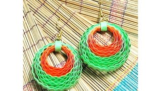 quilling papers earring - quilling earring | earring making tutorial