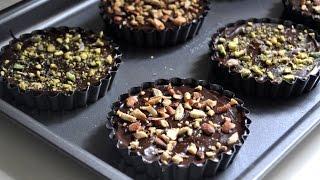 Chocolate Nut Shortbread Cookies
