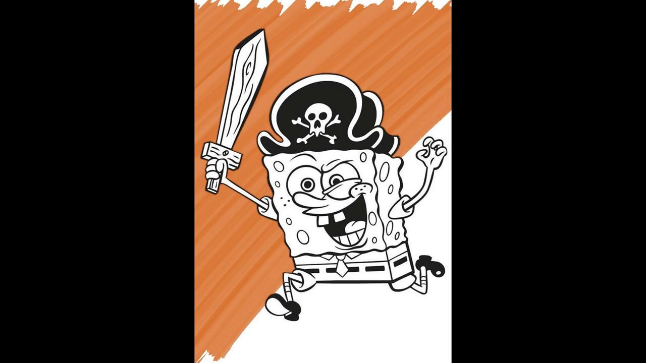 Детская раскраска Губка Боб Квадратные Штаны (SpongeBob ...