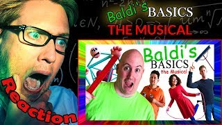 BALDI'S BASICS: THE MUSICAL by Random Encounters REACTION! | BALDI IN REAL LIFE! |
