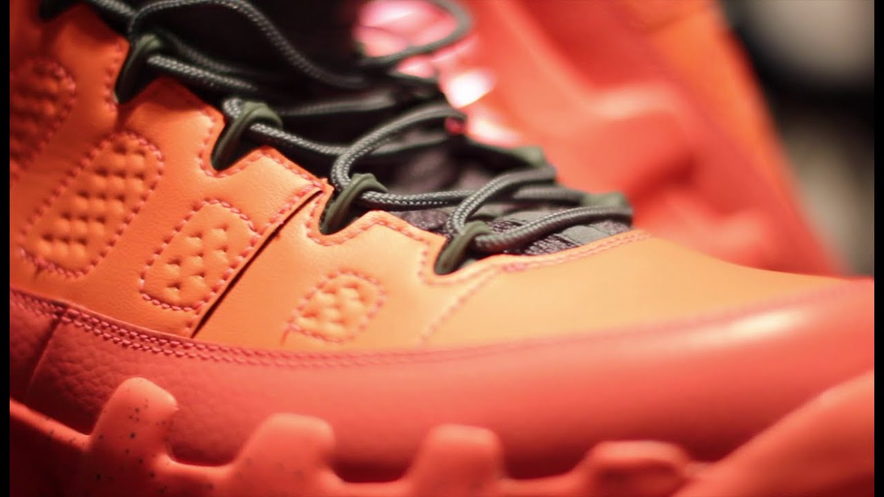 hot sale online d9621 f7e10 Air Jordan 9 Low Bright Mango Complete Authentic Review + On Foot!!!