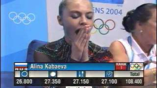 Alina Kabaeva RUS interview after the Olympic Games in Athens 2004