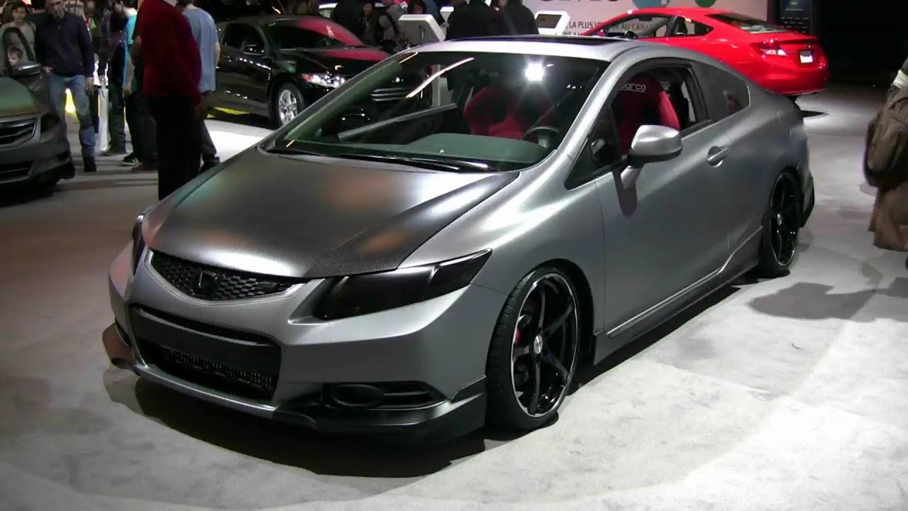 Elegant 2012 Honda Civic SI Remix Exterior And Interior At 2012 Montreal Auto Show    YouTube