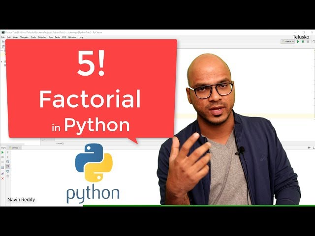 #39 Python Tutorial for Beginners | Factorial