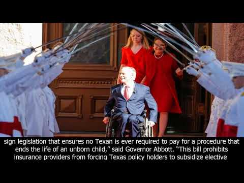 Pro-life insurance reform signed into law | office of the texas governor | greg abbott