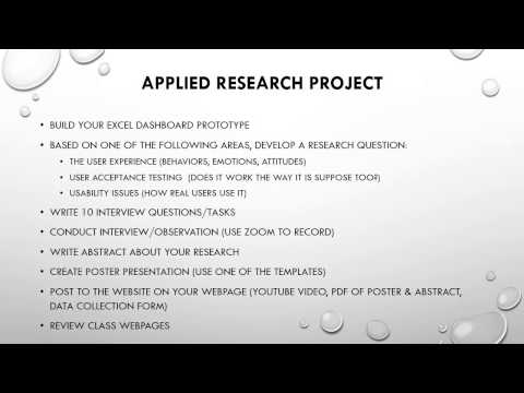 Applied Research Project Overview