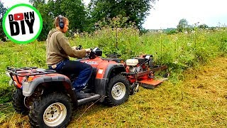 Cutting Extremely Tall Grass With ATV Mower