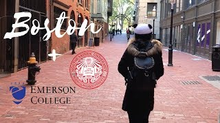 BOSTON VLOG + EMERSON COLLEGE AND NORTHEASTERN TOURS| NIA SHALISE