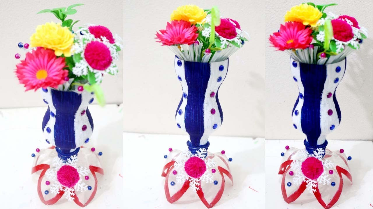 diy plastic bottle flower vase how to make flower vase
