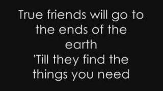 Hannah Montana True Friend Lyrics