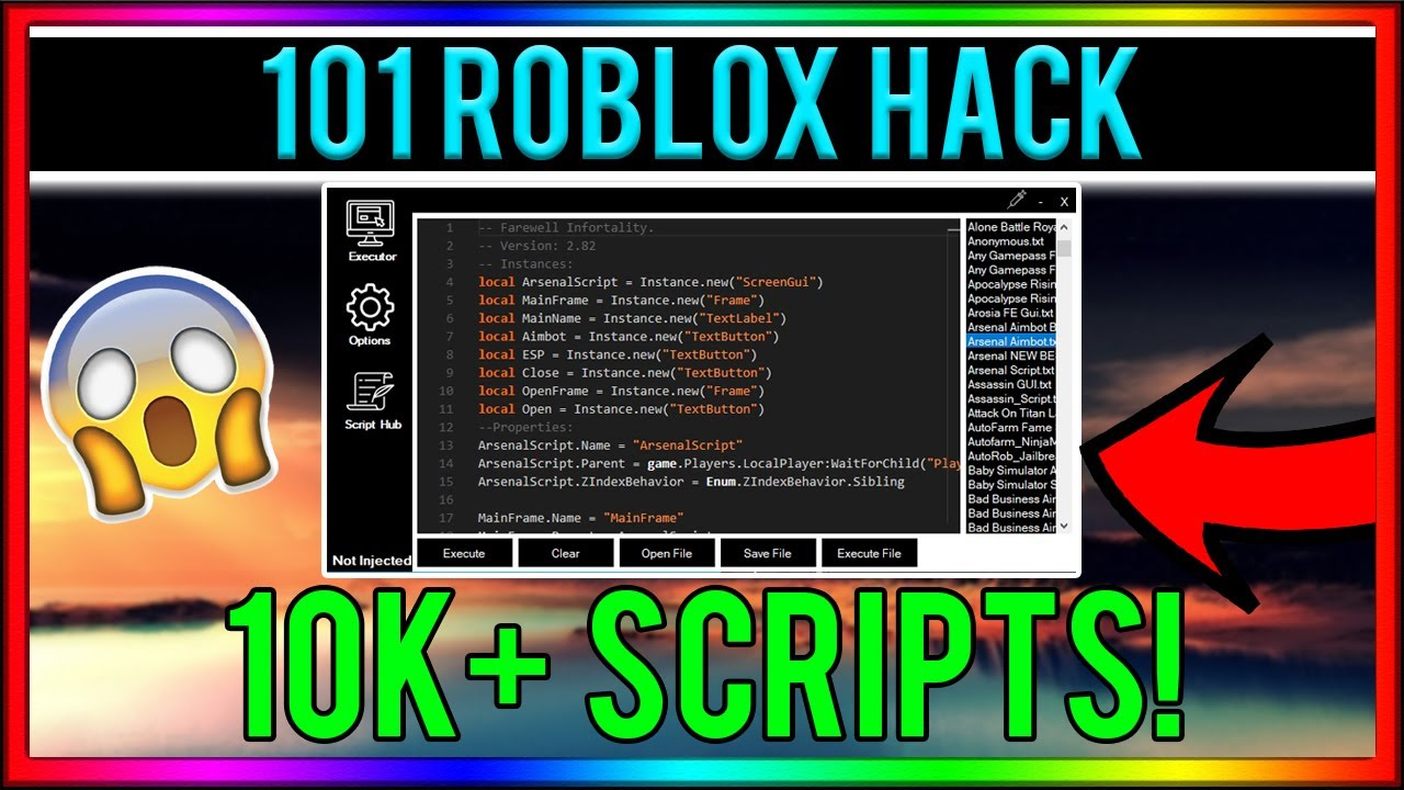 Hacking Apps For Roblox Games No Keysystem Roblox Hack 101 10k Scripts Admin All Games Full Lua More Youtube