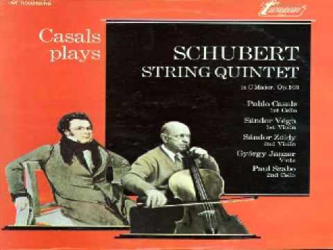 Franz Schubert, Quintet D 956 (complete), Vegh Quartet & Pablo Casals, LIVE Prades