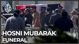 Egypt holds military funeral for former leader Hosni Mubarak