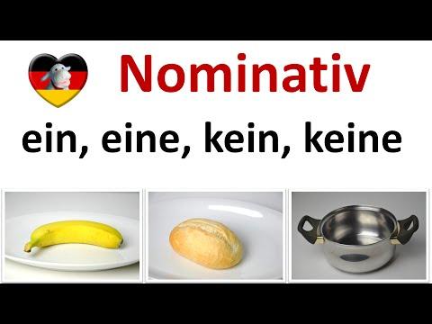 Deutsch lernen A1: ein, eine, kein, keine im Nominativ - Schritte plus 1 Lektion 3 (B3)