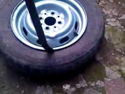 Бортировать колеса своими руками видео