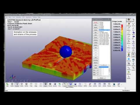 Modeling of composites in LS-DYNA  Video tutorial (incomplete) - YouTube