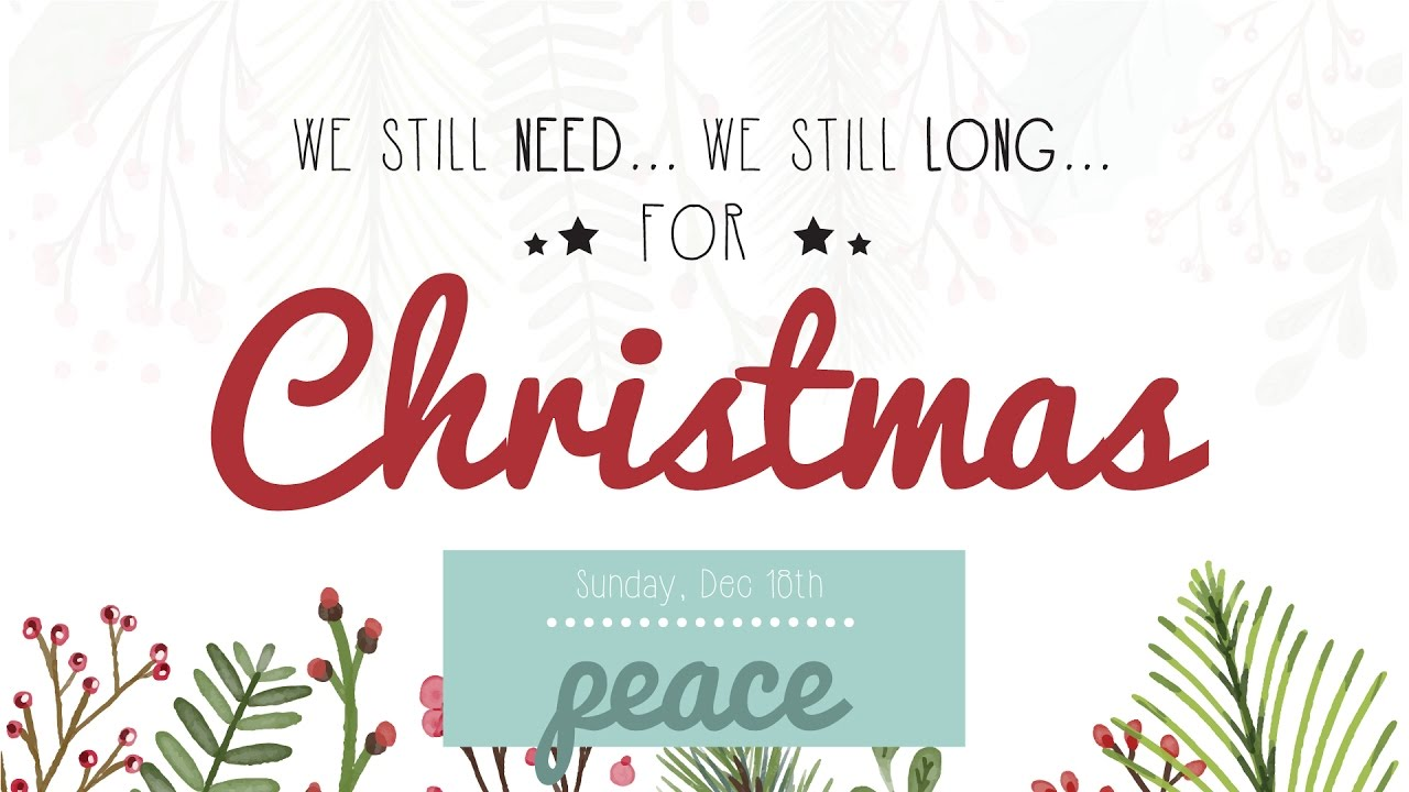 You Can Live in (and share!) Peace –Christmas Peace- Even Now, Even ...