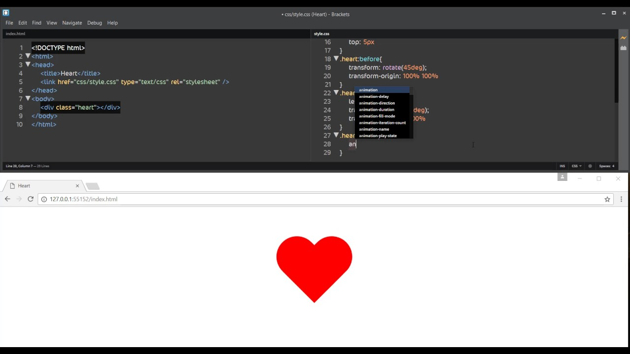 How To Draw Heart in HTML - YouTube