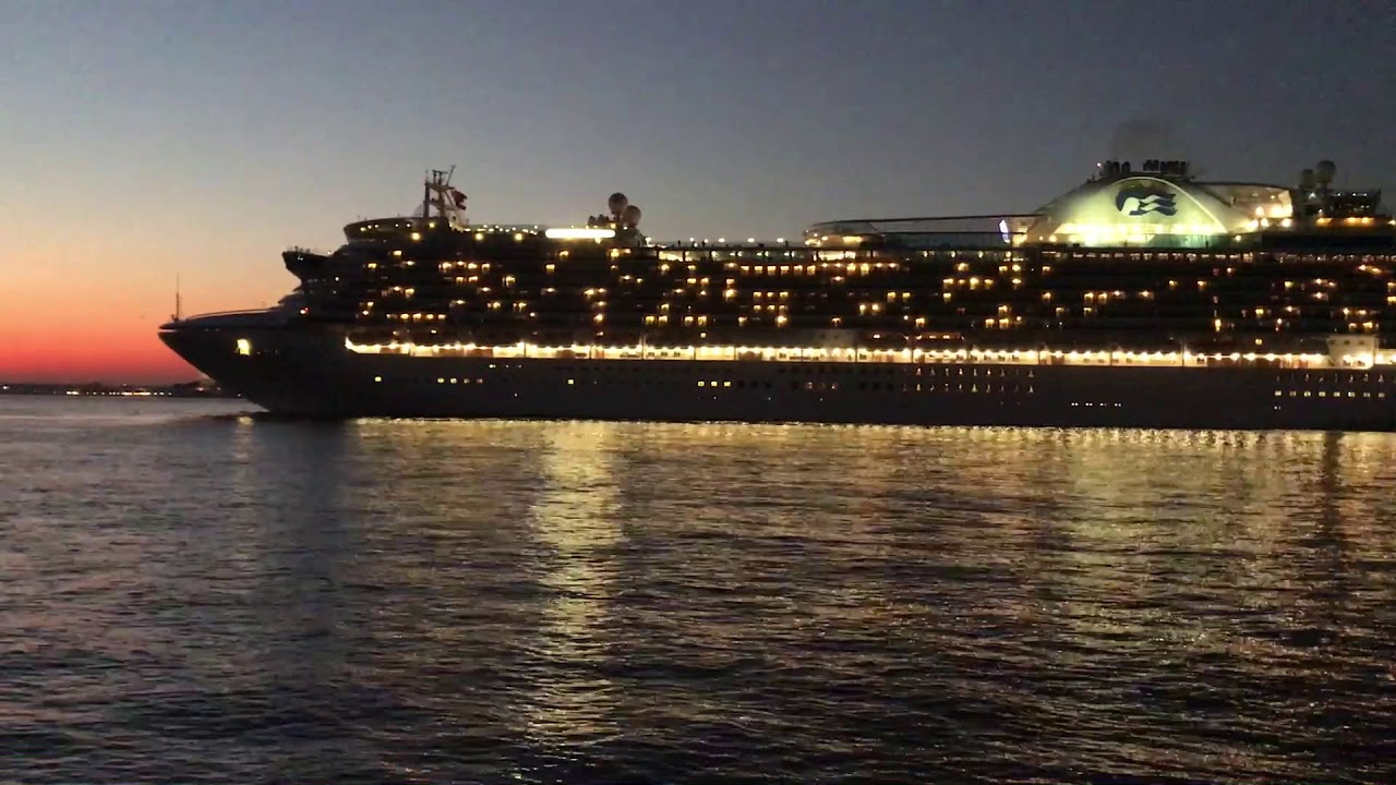 Crown Princess Cruise Ship Leaving Red Hook Terminal New York City - What cruise ships leave from nyc