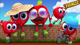 Apple Finger Family | Nursery Rhymes | Kids Song | Fruits Song by Farmees