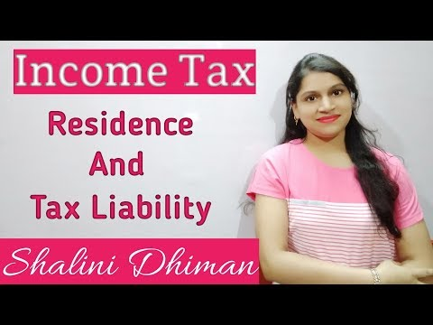 #5 Residence And Tax Liability (In Hindi) | Income Tax|| Boost Your Education ||
