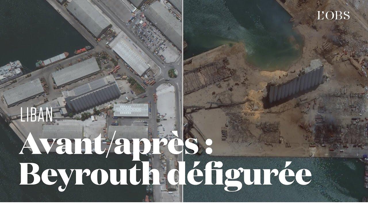 Beyrouth avant/après la double explosion qui l'a défigurée