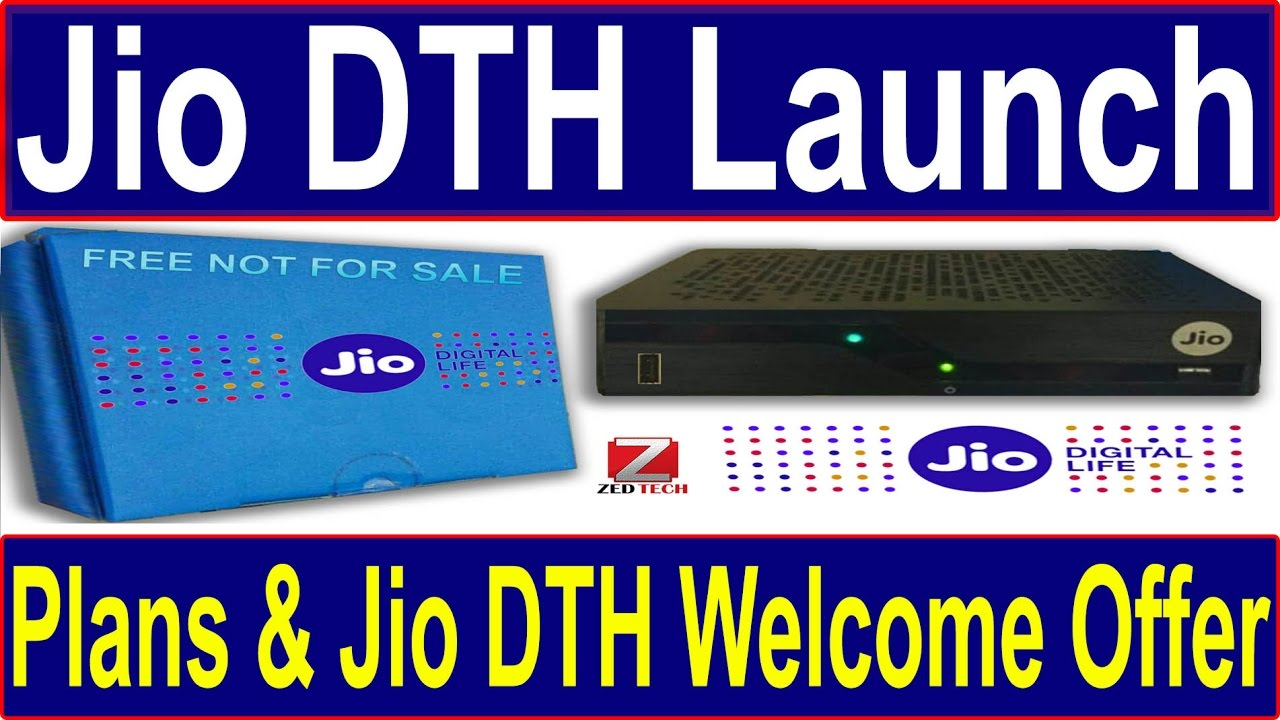 Reliance Jio DTH launch date, Plans and Jio DTH welcome offer | जल्द  Booking स्टार्ट हो रही है ✔