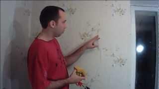 Убираем пузыри на обоях. Remove bubbles on wallpapers(Способ как избавится от пузырей на обоях. В данном видео я рассказываю как легко убрать брак поклейки обове..., 2013-02-15T11:28:32.000Z)