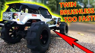 TWIN Engine Crazy FAST RC Car + My Local Shop Tour