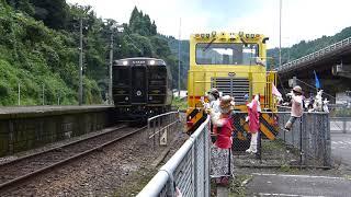 2015/9/2 団体臨時列車(A列車で行こう編成キハ185)通過@天ヶ瀬駅