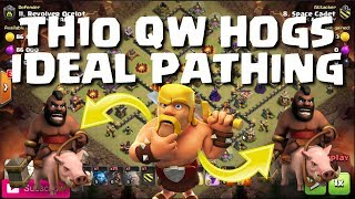 TH10 HOGS - CREATING IDEAL PATHING - 3 REPLAYS | Mister Clash