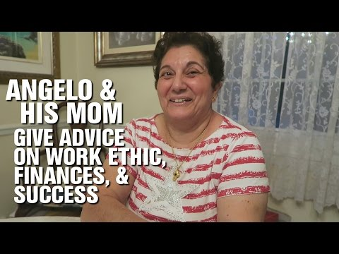 Angelo & His Mom Give Advice on Work Ethic, Finances, & Success